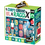 CORPO UMANO A RAGGI X MAGIC LIGHT HEADU 21543 GIOCO EDUCATIVO STEM DIDATTICO