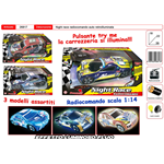 AUTO R/C FLASH LIGHT NIGHT RACE SCALA 1/14 AUTOMOBILE GIOCATTOLO 26817