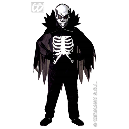 SCARY SKELETON SCHELETRO COSTUME BAMBINO